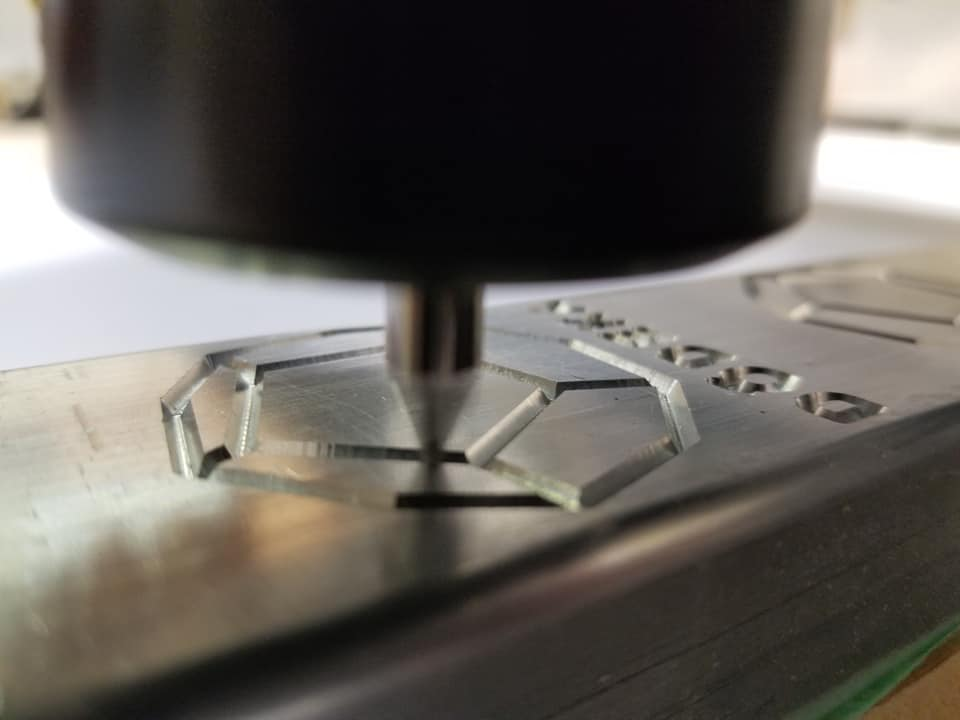 CNC engraving aluminum design